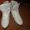 Фигурные коньки белые утепленные #470545