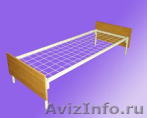 кровати для студентов одноярусные и двухъярусные, металлические кровати  оптом - Изображение #3, Объявление #695559