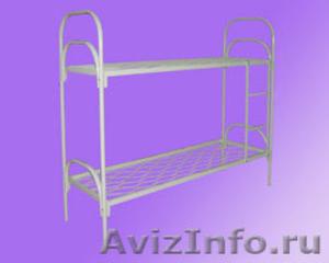 кровати для студентов одноярусные и двухъярусные, металлические кровати  оптом - Изображение #4, Объявление #695559