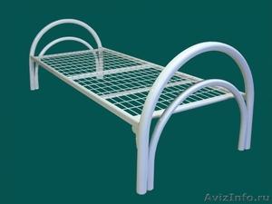 кровати для студентов одноярусные и двухъярусные, металлические кровати  оптом - Изображение #1, Объявление #695559