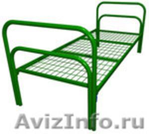 Железные двухъярусные кровати для бытовок, кровати для общежитий. оптом - Изображение #4, Объявление #1478960