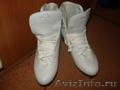 Фигурные коньки белые утепленные