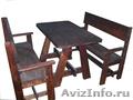 Кухонная мебель из массива дерева (сосна)