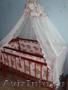 Кроватка + Боковые мягкие бордюрчики + балдахин+подставка для балдахина+ детское
