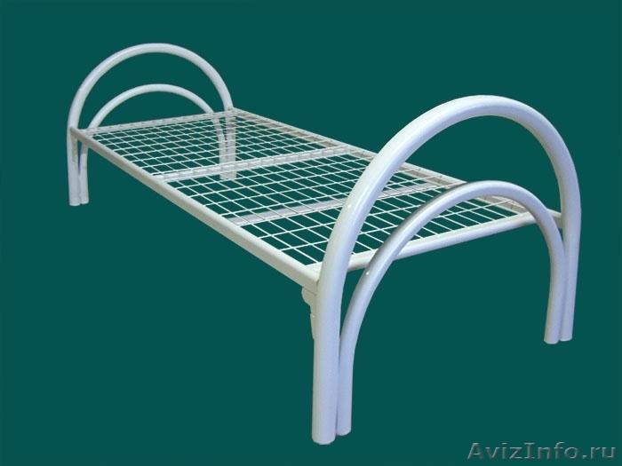 кровати для студентов одноярусные и двухъярусные, металлические кровати  оптом, Объявление #695559